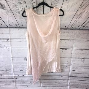Soft Surroundings Pink Tank with a Draped Back